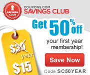 Get premium coupons in the Coupons.com Savings Club