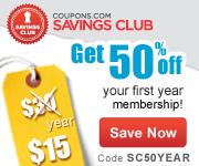 Get premium coupons in the Coupons.com Savings Club