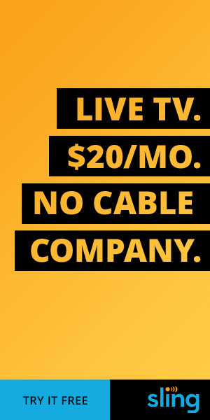 Live TV. $20 a month. No Cable Company. Sling TV.