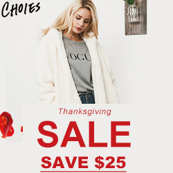 Lovely Shopping Season! Crazy Thanksgiving SALE! Up to $25 OFF!