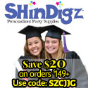 Decorations & other party supplies from Shindigz