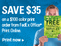 Save $35 on a $100 Color Print Order From FedEx Office.