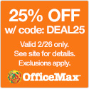 25% Off Sitewide at OfficeMax.com