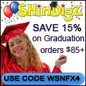 Save 15% on orders $85+ at Shindigz