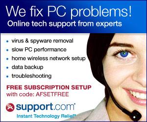 support.com - We fix computer problems!