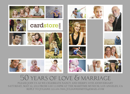 TODAY ONLY! 75% off Anniversary Invites at Cardstore.com! Use code: CAL2677