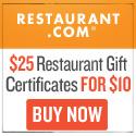 Half Priced Restaurant Gift Certificates