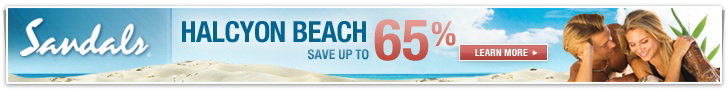 Save up to 65% at Sandals Halcyon Beach St. Lucia