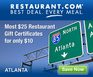 Atlanta - Most $25 Gift Certificates for $10