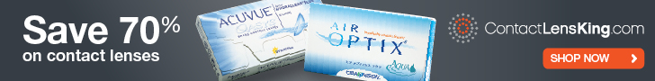 Save 70% on all major brand contact lenses