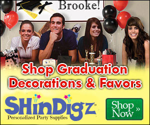 Shop graduation party supplies and decorations.