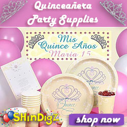 Quinceanera Party Supplies from Shindigz