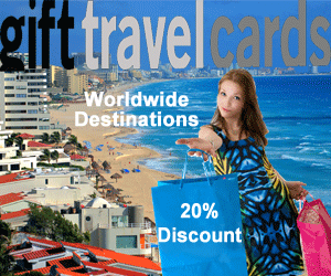 Save 20% on vacation gift cards from gifttravelcards.com