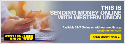 Send money online with Western Union.  Link Send Money Now