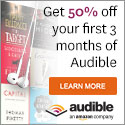 Download an audiobook for only $7.49! Get 50% off your first 3 months of the Audible Listener Gold membership plan and receive your free audiobook credit each month. Pay only $7.49/month for 3 months then only $14.95/month thereafter and continue to receive 1 audiobook credit each month! Choose from over 85,000 titles. - Earn 2 points per $1