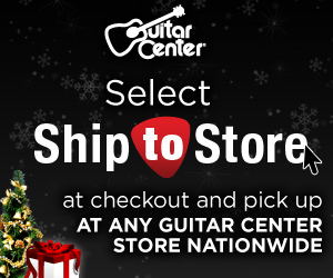 15% off Any Single Item $299 or more at GuitarCenter.com!