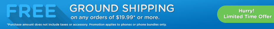TracFone Wireless promo codes for Free Ground Shipping on Phone Orders $19.99+