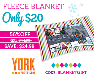 Custom Photo Fleece Blanket - Just $20 - Save $24.99!