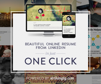 Strikingly - Online resume from Linkedin in seconds