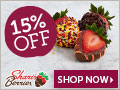 15% off Autumn Strawberries & Sweet Treats (min $29) - 120 x 90