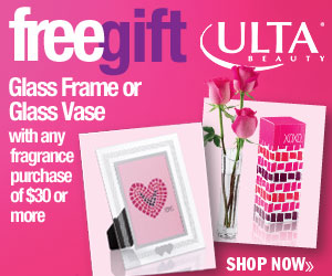 (1/30-2/16) Free Gift! Glass Frame or Glass Vase with any Fragrance purchase of $30 or more!
