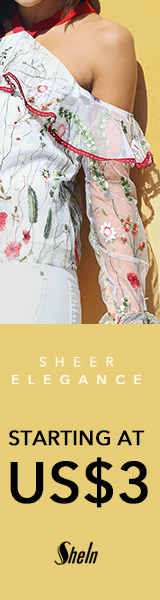 Items starting at $3 and up at SheIn.com! Ends 2/27