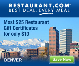 Denver - Most $25 Gift Certificates for $10