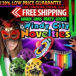 Mardi Gras Costumes & Party Supplies 120% Low Price Guarantee plus Free Shipping on order over $49