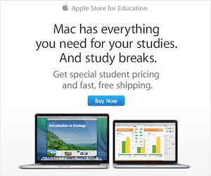 Get an Apple Store Gift Card when you buy a Mac, iPad or iPhone for college