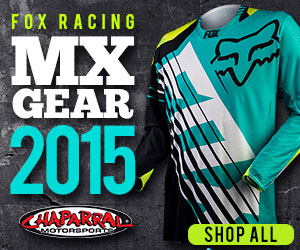 Get ready to win the race with Fox 2015 MX Gear at Chaparral Motorsports! Free Shipping on orders ov