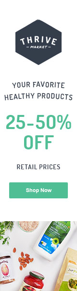 25 to 50% off the retail prices of your favorite healthy groceries. Start saving today!