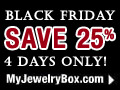 SAVE 25% OFF 4 DAYS ONLY!  NOVEMBER 27TH - 30TH