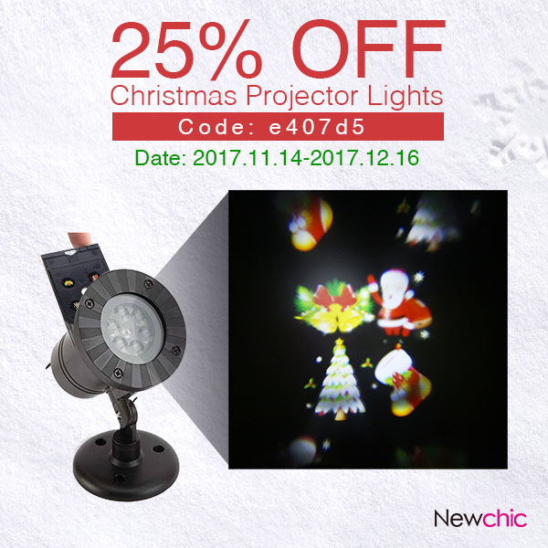25% Off Christmas Projector Lights