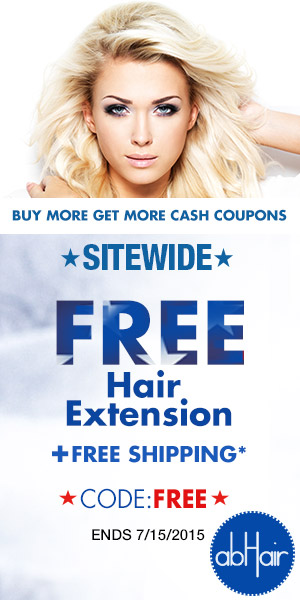 Site wide free hair extensions +free shipping.