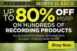 RECORDING MONTH - Up to 80% off MSRP on hundreds of recording products at musiciansfriend.com