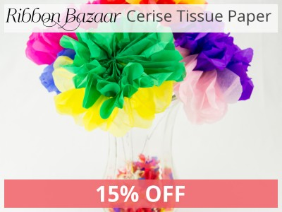 "Tissue Paper 20"" X 26"" 80 pieces Cerise 15% Off."