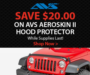 Get a $10.00 mail in rebate when you purchase AVS Ventvisors or Fender Deflectors.