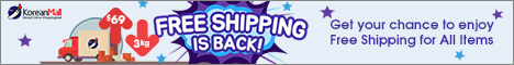 Enjoy the free shipping from koreanmall.com