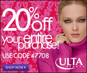 20% Off your entire purchase at ULTA Beauty