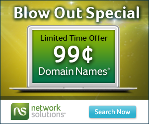 $  4.95 Domains at Network Solutions®!