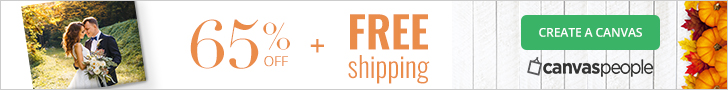 65% off all Canvases and Free Shipping