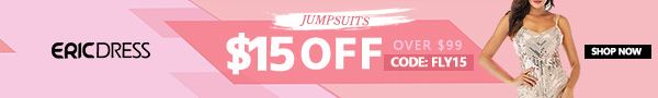 Ericdress Jumpsuits Pants $15 off over $99, Code: fly15. Shop Now!