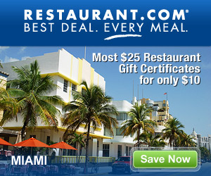 Miami - Most $25 Gift Certificates for $10