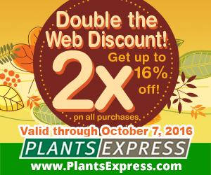 Double Discount from Plants Express