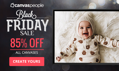 85% off all canvas prints