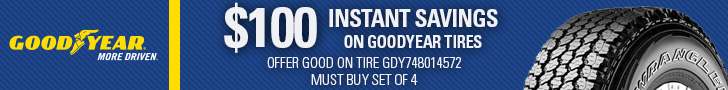 Buy a select set of Goodyear Wrangler tires and save $100.