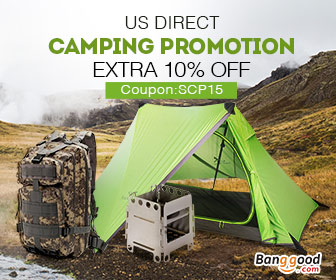 Extra 10% OFF for Camping Promotion in US Warehouse