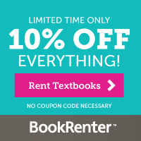 Limited Time Only 10% off Site Wide only at BookRenter