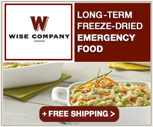 Wise Company Gourmet Emergency Meals - Up to 25 Year Shelf Life
