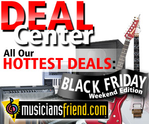 Holiday Gift Center at Musician's Friend